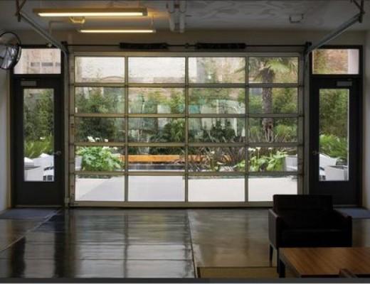 Glass Garage Doors Private Garden Blog